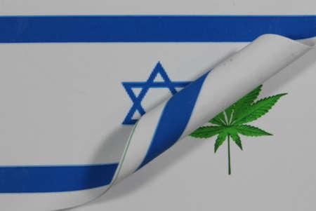 Israel Flag Cannabis Stock Photo