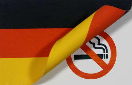 Germany Flag smoking Stock Photo