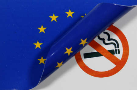 non: European flag Non smoking Stock Photo