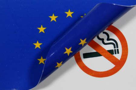 European flag Non smoking Stock Photo