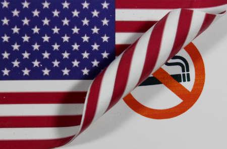 USA Flag smoking