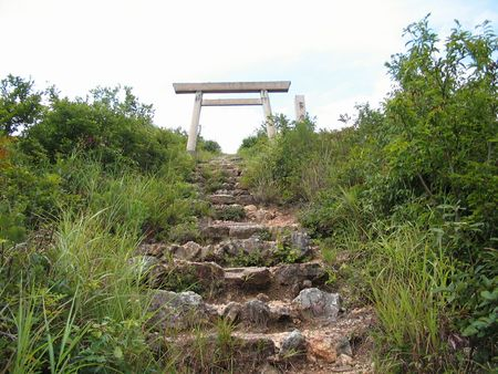 A Shrine Gate At The Top of A Mountain