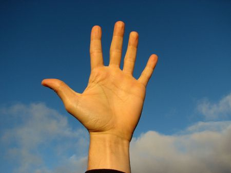 existentialism: a hand in the sky.