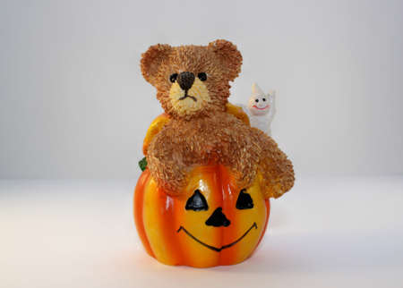 A Ceramic Halloween Decoration. It could be used at thanksgiving also
