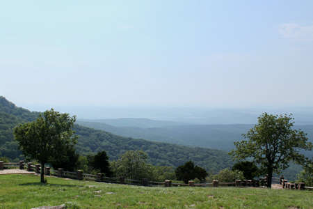 Cameron Bluff overlook at Mt magazine State Park in Arkansas Stock Photo