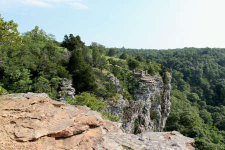 A view of Cameron Bluff Overlook. At Mt Magazine State Park in Arkansas