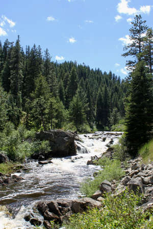 Little Salmon River in Idaho. The road follows the river for miles. Stock Photo