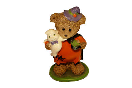 Halloween Bear And Ghost Friend. Cute small table piece