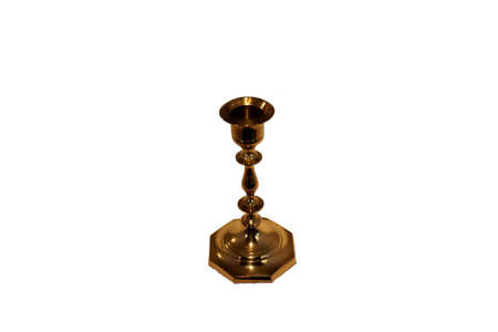 Gold Candle Holder. Very nice and heavy piece Stock Photo