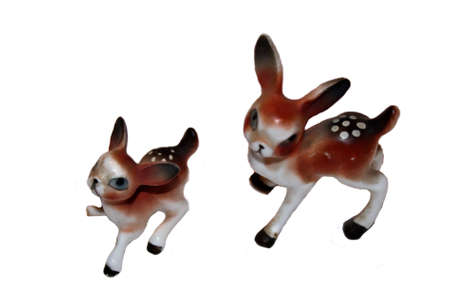 Ceramic Deer Decorations Stock Photo