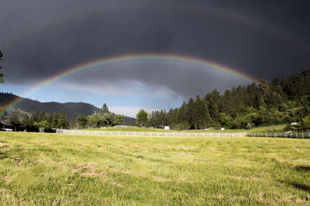 Beautiful Rainbow in Idaho mountains