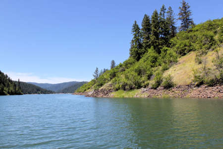 Dworshak Lake in Idaho. The lake is 54 miles long. 700 feet deep at the deepest spot. Stock Photo - 14038136