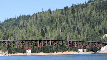 Grandad Bridge in Idaho. Grandad Bridge was built in 1971. It is 1208 feet long. It also crosses Dworshak Lake in Idaho.
