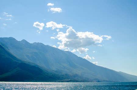 Lake Garda / Gardasee sightseeing and Panorama you at the lake and the mountains