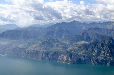 Lake Garda / Gardasee sightseeing and Panorama you at the lake and the mountains Archivio Fotografico