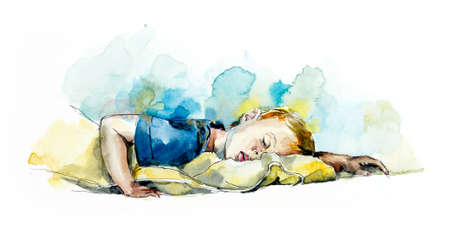 Baby slip. Watercolor hand drawn illustration