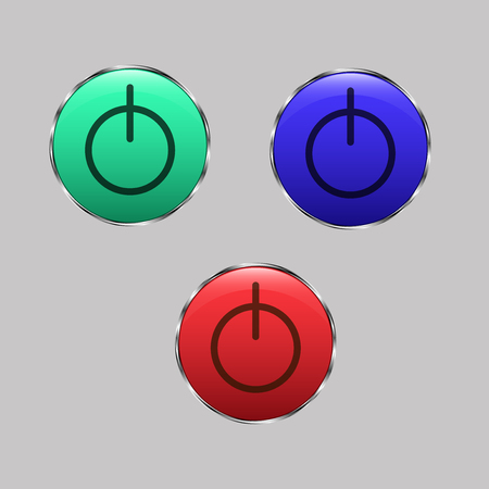 blu: set of three glass button, red,green and blu Illustration