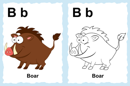 Vector Line Art Animals : Child boar stock illustrations cliparts and royalty free