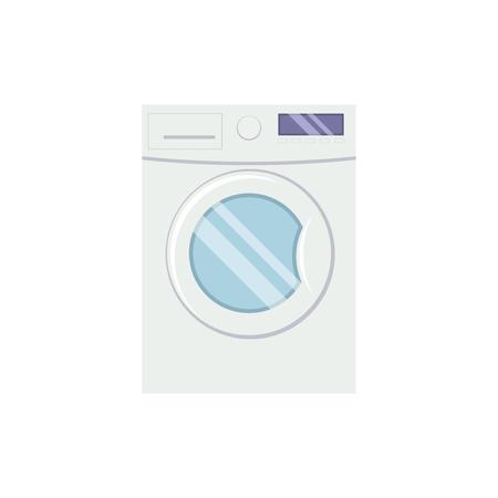 Washing mashine  in flat style vector illustration isolated on white backgrond.