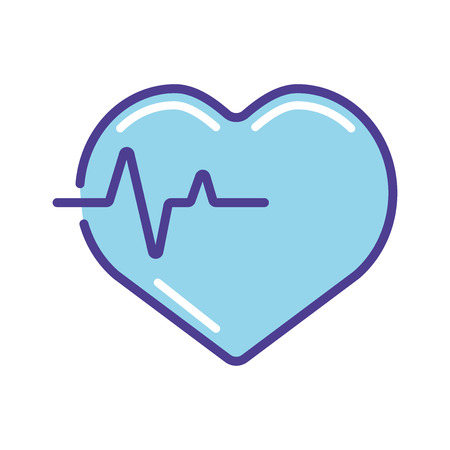 Blue heart   icon vector illustration  isolated on white background Иллюстрация