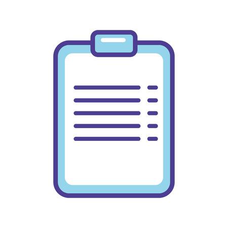 Blue chek list   icon vector illustration  isolated on white background Иллюстрация