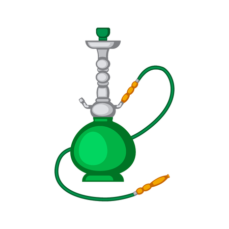Hookah vector illustration isolated on white background. Shisha vector. Tobacco tools vector.