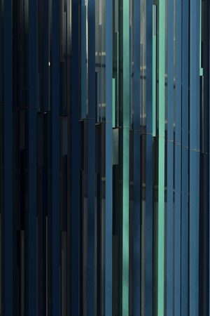 Zaragoza, Spain - February 2, 2020: Abstract vertical lines in the facades of the former grounds of the Vidal de Canellas building.