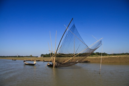 bangladesh: Fishing in Wetland