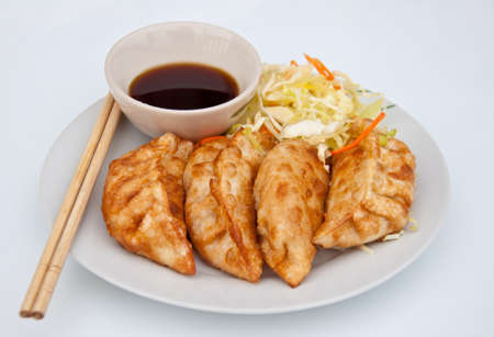Chinese food fried dumpling Stock Photo