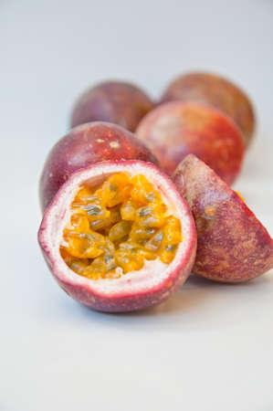 passion fruit  on white background photo