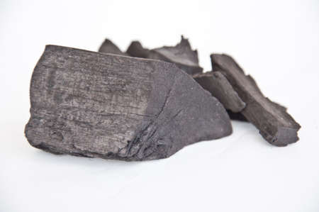 absorb: Activate charcoal on white background