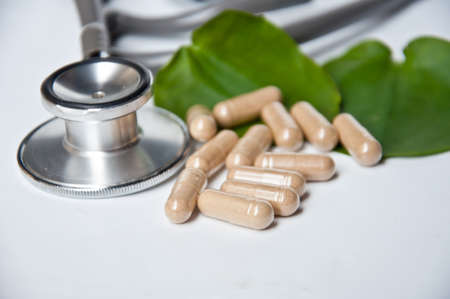 alternative medicine: Alternative medicine make good health and good life Stock Photo