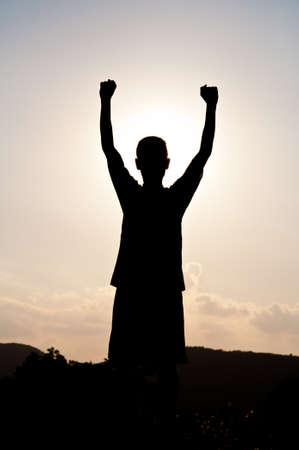 El éxito y la victoria Foto de archivo - 11437913