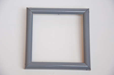 Blue blank frame  on white background Stock Photo - 13008804