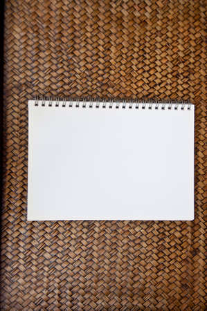 blank paper on sedge background photo