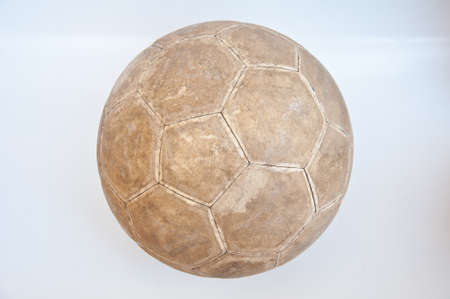 old football on white background photo