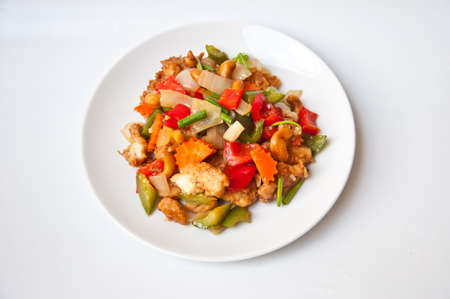 fried chicken with cashew nut for healthy food Stock Photo - 14007029