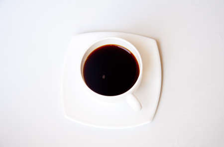 black coffee on white background photo