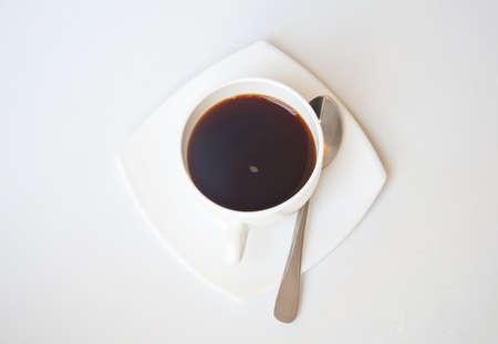 black coffee on white background photo