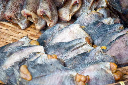 gourami: Snakeskin gourami fish for food in market