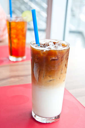 iced latte coffee for refreshing Stock Photo - 15166835