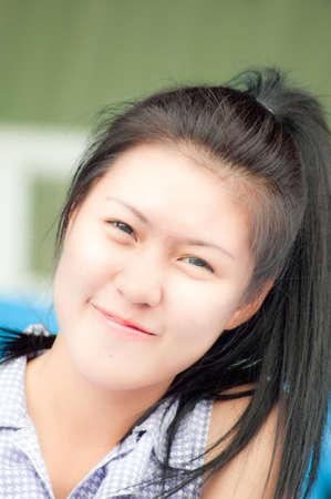 girl action: cute Asian girl action