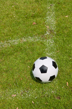 ball on the field for the match Stock Photo - 15542611