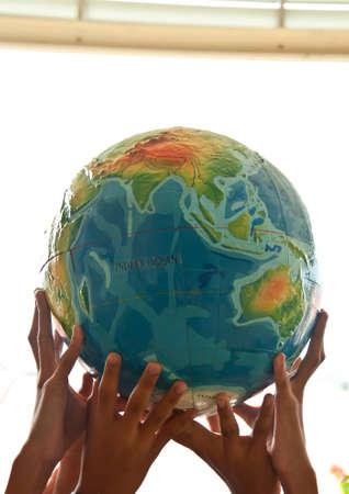 earth on children hand