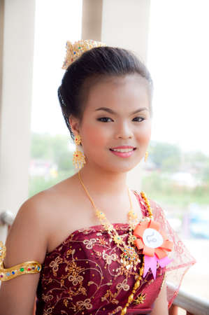 BANGKOK THAILAND � November  28: Unidentified model Portrait of Thai girl in Thai suite of  LOYKRATONG festival November28, 2012 in Bangkok, Thailand.