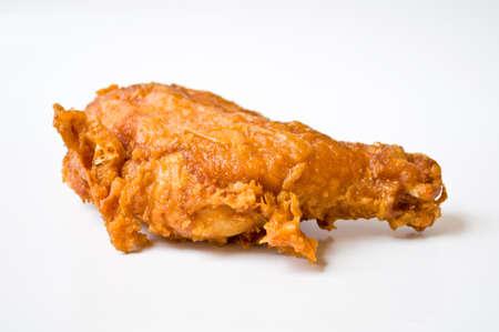 chicken leg: fried chicken on white background Stock Photo