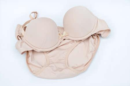 brown lingeri on white background Stock Photo