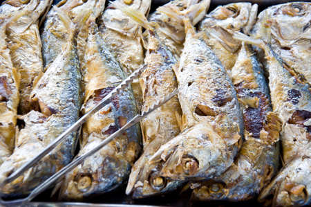 fried Makerel fish for healthy food photo