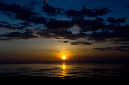 beautiful sunrise from nature