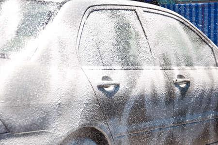 cleaning car: limpieza del coche de la espuma de servicios de atenci�n de atenci�n fromclean